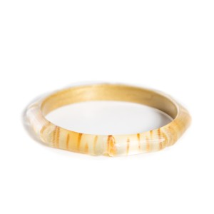 Alexis Bittar Thin Lucite Bamboo Style Bangle