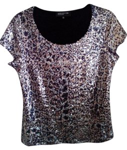 Jones New York Top Black,Sliver,Gold