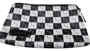 L.A.M.B. black & white Clutch