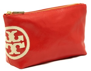 Tory Burch TORY BURCH Dipped Beach Small Slouchy Red Cosmetic Case