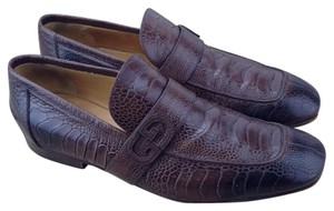 Gucci Alligator Animal Exotic Brown Flats