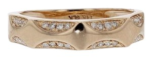 Other 0.11ct Pave Diamond 14k Rose Gold Band Ring