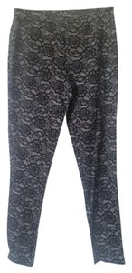 Faded Glory Black Floral Lace Print - Girls Size XL (14-16) Leggings