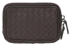 Bottega Veneta $500 New Authentic Woven Leather Coin Purse Brown 218193 2040