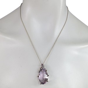 Alexis Bittar Cool Heather Marquise Amethyst Sterling Silver Chain Necklace