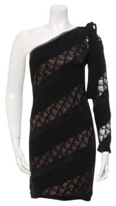 Diane von Furstenberg Lace One Shoulder One Sleeve Dress