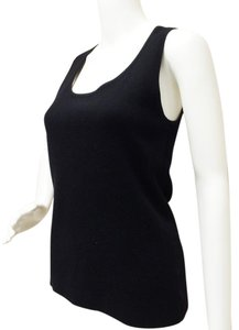 Michael Kors Sleeveless Cashmere Top Black