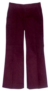 Gap Wide Leg Pants Burgundy