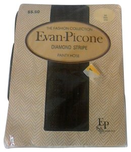 Evan Picone Evan Picone Diamond Striped Pantyhose