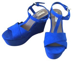 Zara Blue Platforms