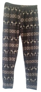 Winter print dark and light brown Leggings