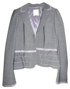 Rebecca Taylor Rebecca Taylor grey wool skirt suit with ruffles