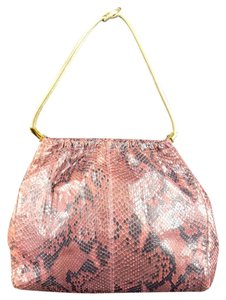 Versace Snakeskin Python Metallic Shoulder Bag