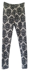Other White and black damask print Leggings