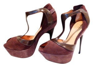 L.A.M.B. dark brown Platforms