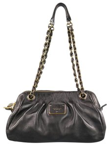 Marc Jacobs Chain Pleated Gold Shoulder Bag