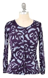 Boden Abstract Print Soft Wool Cardigan
