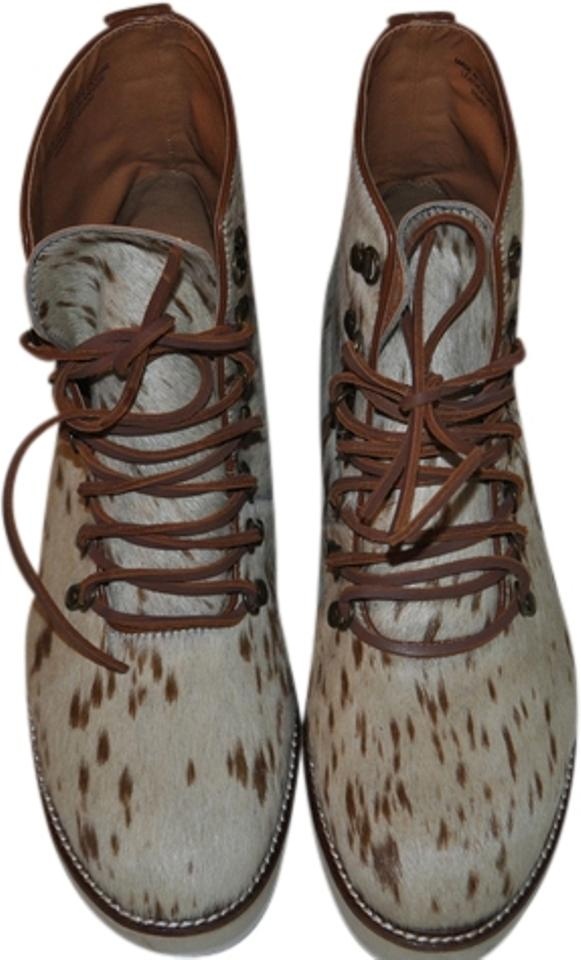 lady the Ecote White/Brown Snuffy Hiker Boots/Booties Special promotions at the lady end of the year f54de1