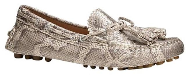 Item - Gray Nadia Driving Loafers In Snake / Phyton Prin Flats Size US 7 Regular (M, B)