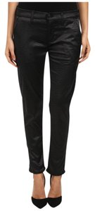 Hudson Jeans Crocodile Stretch Trouser Skinny Pants Black Onyx