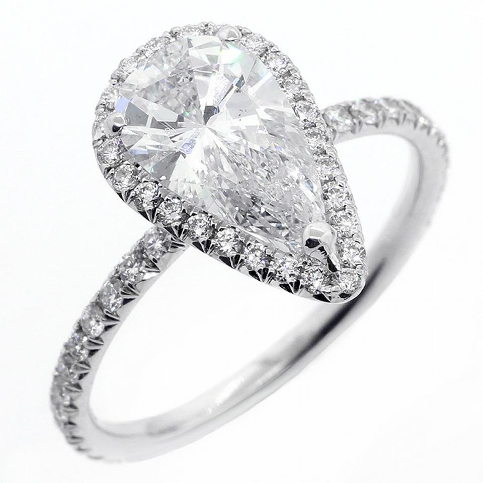 set pear diamond amp ring certified image rings cut platinum berrys shaped surround pave engagement