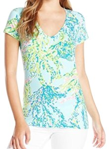 Lilly Pulitzer T Shirt Blue, green, pink