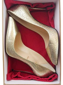 Christian Louboutin Stiletto Gold Pumps