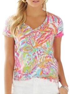 Lilly Pulitzer T Shirt Pink orange