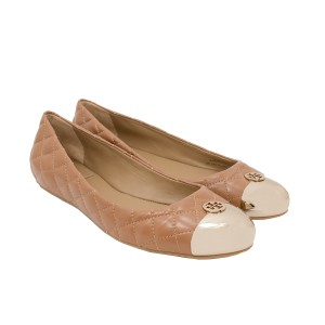 Tory Burch 30506 Clay Beige/Gold Flats