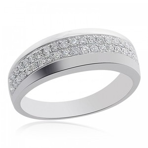 Avital & Co Jewelry 0.50 Carat Mens Round Brilliant Cut Diamond Wedding Band 14k WG