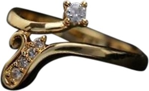 Other Gift Elegant Love Journey Fine CZ Yellow Gold Filled Ring Wm Size 9 w/Box