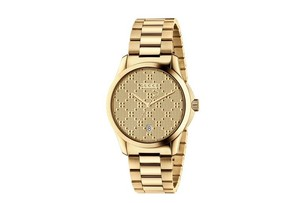 Gucci G-Timeless MD Light Yellow Diamante Watch