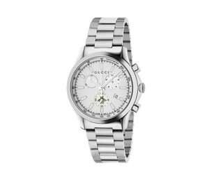 Gucci Gucci G-Timeless Watch Chrono White Lacquered and Steel