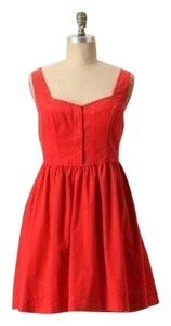 Anthropologie short dress Red Corduroy on Tradesy