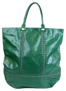 Bottega Veneta Leather Tote in Green