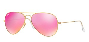 Ray-Ban RB 3025 112/4T GOLD Ray Ban Aviator with PINK MIRRORED LENSES - Free 3 Day Shipping -