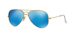 Ray-Ban RB 3025 112/17 Gold Ray Bay Aviator - Blue Lens - FREE 3 DAY SHIPPING