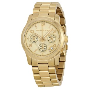 Michael Kors Michael Kors Runway Gold Steel Chronograph Watch MK5055