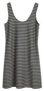 Madewell short dress Black and White stripe Nautical Tank on Tradesy