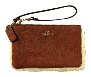 Coach Small Sheraling F64709 Wristlet in Sheraling/Natural Leather