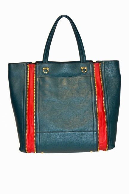Item - Teal Leather Tote
