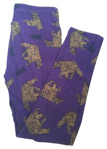 LuLaRoe Lularoe Leggings Purple Bears Trees TC NEW NWT Unicorn Bear Leggings
