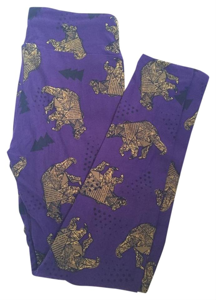 c1bacaa1aaa5ab LuLaRoe Lularoe Leggings Purple Bears Trees TC NEW NWT Unicorn Bear Leggings  Image 0