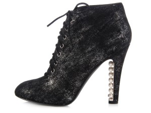 Chanel Ankle Ch.k0906.01 Lace Up Boots