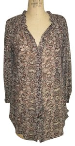 Isabel Marant Floral Silk Tunic Top MULTI