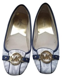 Michael Kors Blue and white Flats