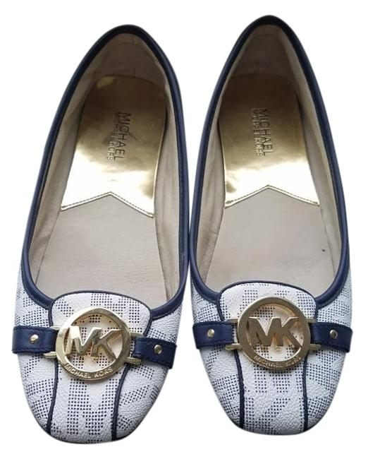 Item - Blue and White Mk Moccasin Flats Size US 9 Regular (M, B)