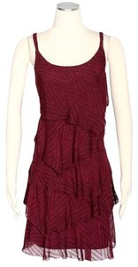 Signature by Robbie Bee short dress Burgundy on Tradesy