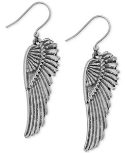Lucky Brand Lucky Brand Silver Tone Feather Angel Wings Drop Earrings NWT $29