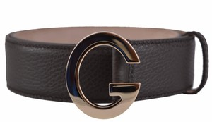 Gucci Gucci Women's 362732 Brown Textured Leather G Buckle Belt 36 90
